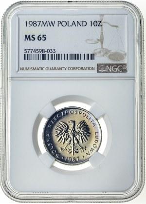 10 złotych 1987, MS 65