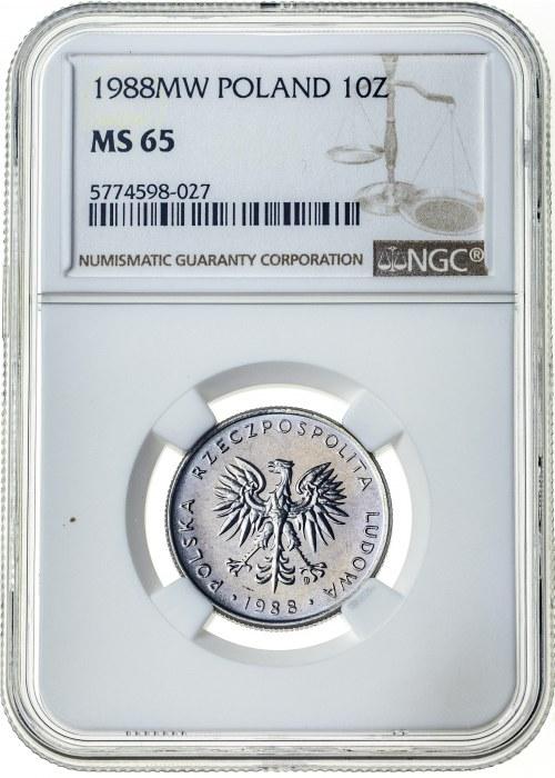 10 złotych 1988, MS 65