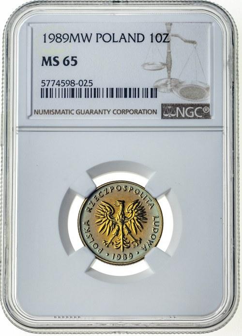 10 złotych 1989, MS 65