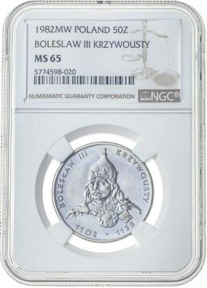 50 złotych 1982, MS 65, Bolesław III Krzywousty