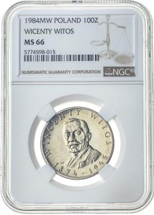 100 złotych 1984, MS 66, Wincenty Witos