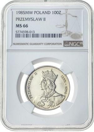 100 złotych 1985, MS 66, Przemysław II