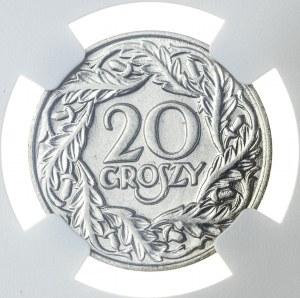 20 groszy 1923, MS 63