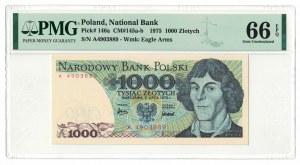 1 000 złotych 1975, Mikołaj Kopernik, PMG 66 EPQ, seria A