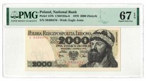 2 000 złotych 1979, Mieszko I, PMG 67 EPQ, 2ga NOTA ŚWIAT
