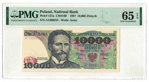 10 000 złotych 1987, Stanisław Wyspiański, PMG 65 EPQ, seria A
