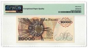 20 000 złotych 1989, Maria Skłodowska-Curie, PMG 67 EPQ, 2ga NOTA ŚWIAT