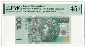 100 złotych 1994, Władysław II Jagiełło, PMG 45 EPQ