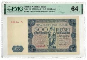 500 złotych 1947, PMG 64