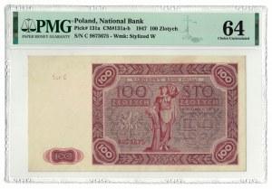 100 złotych 1947, PMG 64