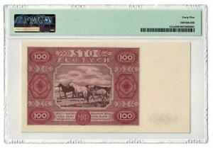 100 złotych 1947, PMG 45
