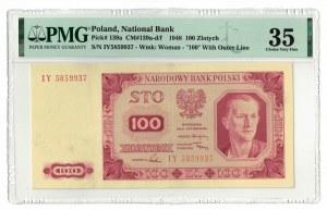 100 złotych 1948, PMG 35