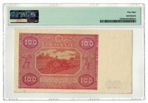 100 złotych 1946, PMG 58