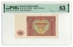 10 złotych 1946, PMG 63
