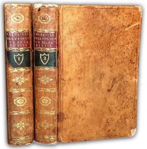 DORVILLE, WILHELM - LES FASTES DU ROYAUME DE POLOGNE, ET DE L'EMPIRE DE RUSSIE. PREMIERE PARTIE, CONTENANT L'HISTOIRE DE POLOGNE t.1-2 [komplet w 2 wol.] wyd. 1769