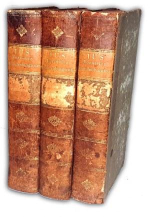 PRAWO PRUSKIE - IUS BORUSSICO-BRANDENBURGICUM t.1 cz.1-2 [w 3 wol.] wyd.1799-1801