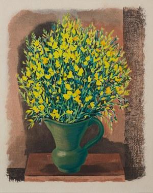 Mojżesz Kisling (1891 - 1953), Żółte kwiaty w wazonie