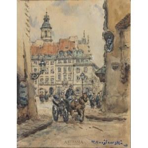 Tadeusz Cieślewski (ojciec) (1870–1956), Widok Starego Miasta w Warszawie, przed 1939