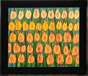 Edward Dwurnik, Żółte tulipany, 2018