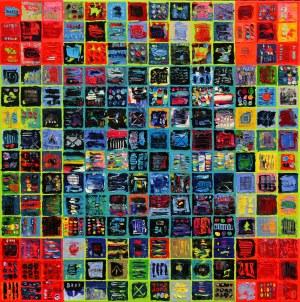 Krzysztof Pająk, Alfabet 5 z cyklu Kody DNA, 2020