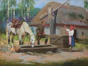 Jerzy Kossak (1886-1955), Spotkanie przy studni