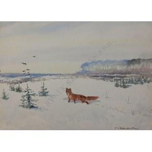 Jerzy Potrzebowski (1921-1974), Lis na śniegu