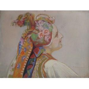 Piotr Stachiewicz (1858-1938), Panna młoda w stroju krakowskim