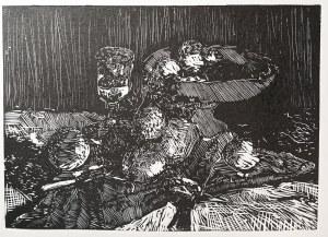 Simon Poloczek, Inspiracja - Paul Cézanne, Still Life with Fruit Dish