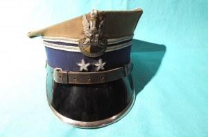 ŁÓDŹ. Czapka podpułkownika wojsk lądowych z okresu 1944-1948