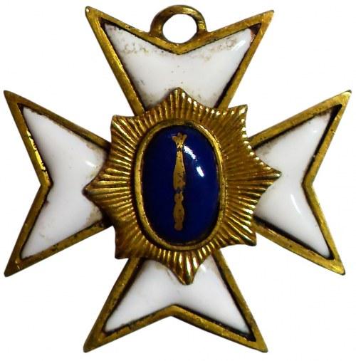 WROCŁAW. Brązowy, złocony krzyż mistrza loży masońskiej