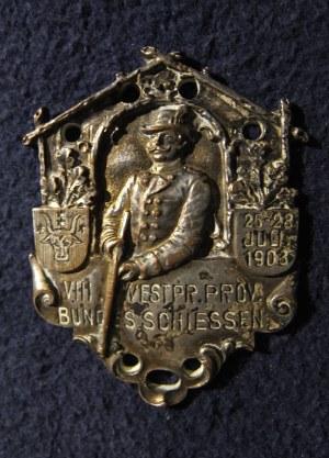 GRUDZIĄDZ. Srebrna odznaka zachodniopruskiego związku strzeleckiego, Deschler
