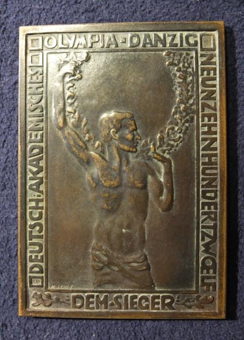 WROCŁAW. Plakieta brązowa z 1912 r. dla Uwe Göltza