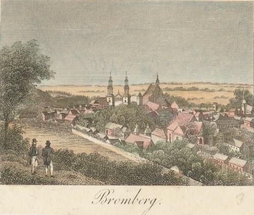 BYDGOSZCZ. Widok miasta, anonim, ok. 1835; stal. kolor., st. bdb.
