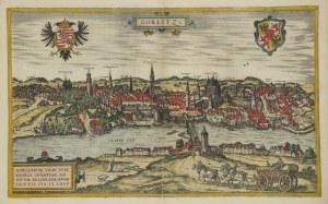 ZGORZELEC/GÖRLITZ. Panorama miasta z prawego brzegu Nysy; ryt. Frans Hogenberg
