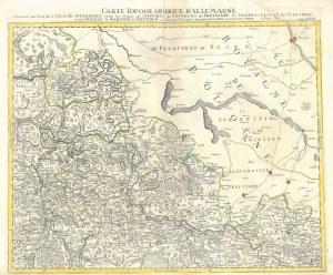 GŁOGÓW, WSCHOWA. Mapa pogranicza polsko-śląskiego