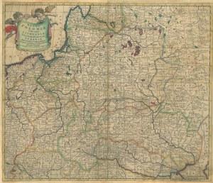 POLSKA, LITWA. Mapa Polski i Litwy, wyd. Justus Danckerts, Amsterdam, ok. 1700