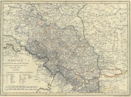 ŚLĄSK. Mapa Śląska, wyd. Tranquillo Mollo, Wiedeń, ok. 1820; miedz. cz.-b