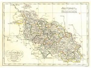 ŚLĄSK. Włoska mapa Śląska, ryt. Agostino Costa, oprac. Bartolomeo Borghi