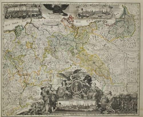 WROCŁAW, ŚLĄSK, KRÓLESTWO POLSKIE, KRÓLEWIEC, PRUSY. Mapa Królestwa Pruskiego