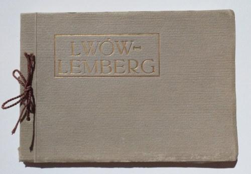 LWÓW. LWÓW-LEMBERG, album widoków miasta, anonim, okres międzywojenny