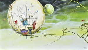 Dariusz Franciszek Różyc, Pejzaż z zielonym księżycem, z cyklu: