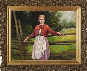 Tadeusz Rybkowski (1848-1926), Dziewczyna w stroju ludowym