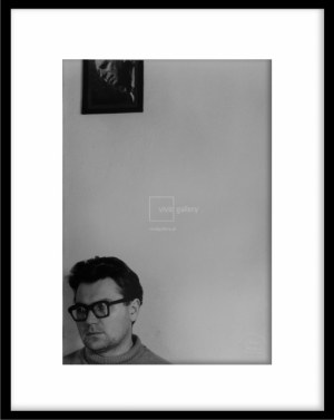 Zdzisław Beksiński - autoportret z ojcem, fotografia artystyczna