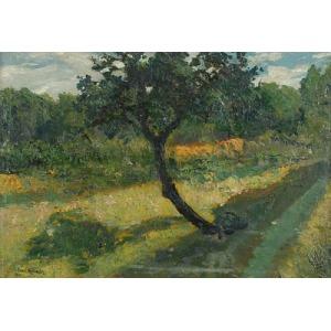 Leon KAMIR KAUFMAN (1872-1933), Pejzaż z drzewem, 1901