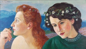 Wlastimil HOFMAN (1871-1970), Siostry - Danuta i Barbara Grębeckie, 1950