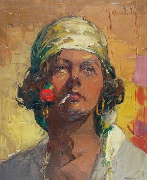 Grzegorz MENDOLY (1898-1966), Cyganka, 1935