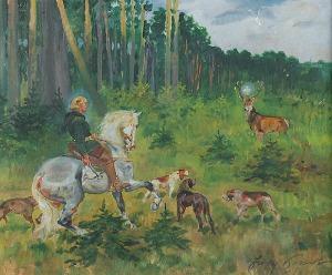 Jerzy KOSSAK (1886-1955), Święty Hubert, 1941