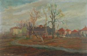 Henryk KRYCH (1905-1980), Motyw z małego miasta