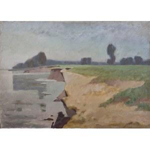 Helena KRAJEWSKA (1910-1998), Pejzaż z zakolem rzeki