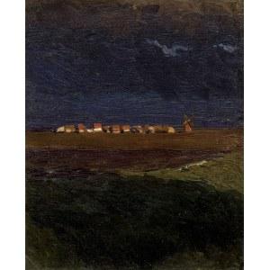 Ruszczyc Ferdynand, WIEŚ O ZACHODZIE (WIEŚ NOCĄ), LIPIEC 1897